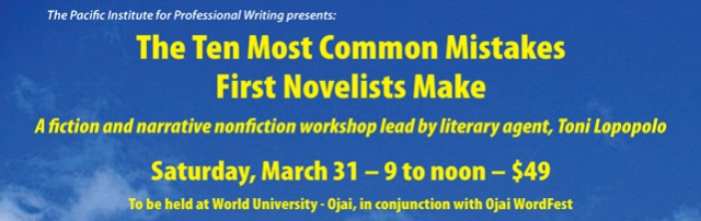 The Ten Most Common Mistakes  First Novelists Make banner